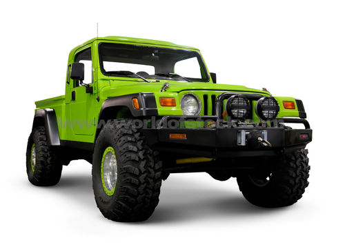Stock Photograph of Custom Jeep Wrangler TJ With Large Wheels …