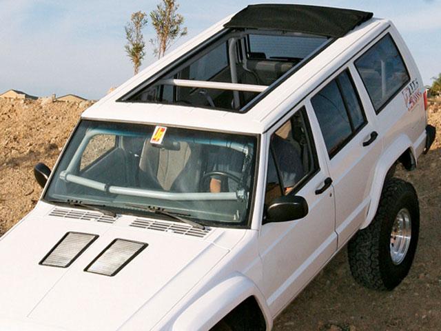 Street Beat Custom Jeep Cherokee Sunroof Install White Exterior …