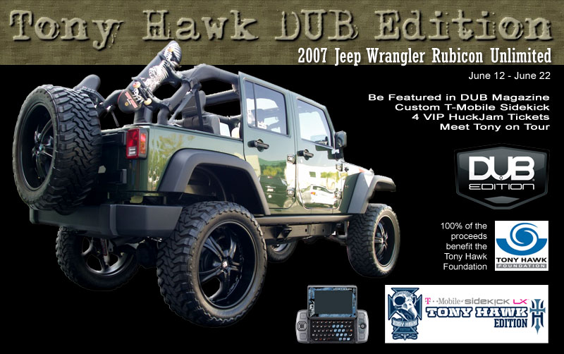 Skate Boarding News  Tony Hawk Foundation Auctions Custom Jeep