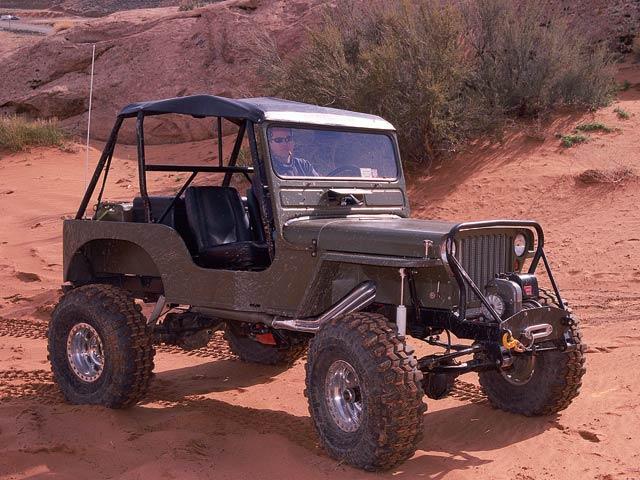 1949 Custom Jeep Flatfender Posing Photo 8