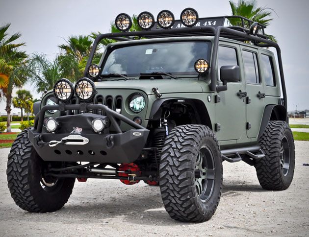 Military Green Jeep Wrangler by CEC Wheels HiConsumption  got 4 x 4