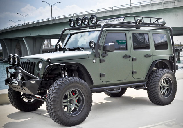 Military Green Jeep Wrangler by CEC Wheels  HiConsumption