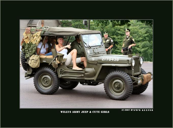 Willys Jeep and Girls Photo by Photographer Mark Keefer – photo.