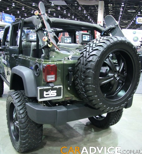 Jeep Wrangler Rubicon Tony Hawk DUB Edition CarAdvice  got 4 x 4