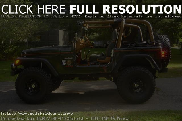 Lifted Jeep Wrangler Yj Sahara  Modified Cars