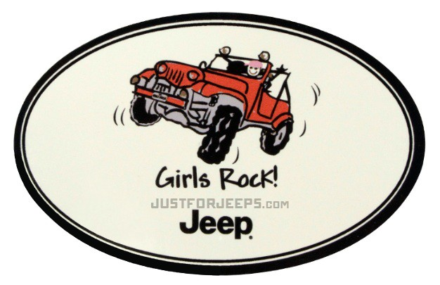 Jeep Girls Rock Decal