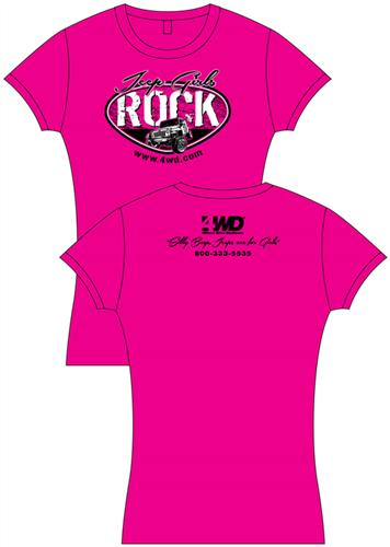 4Wheel Drive Hardware Part DYMGRLBL – Jeep Girls Rock Baby Doll Shirt