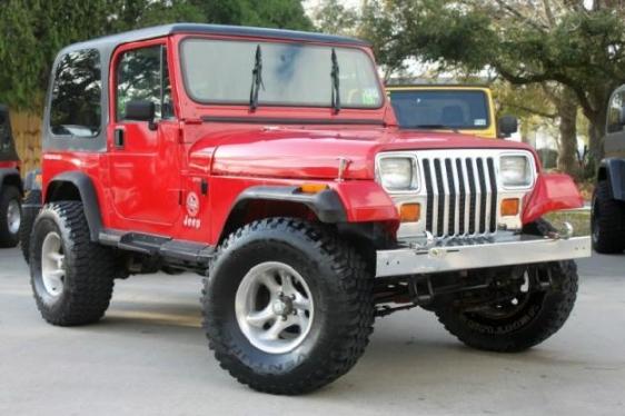 1993 Jeep Wrangler 2DR base  top and doors  the custom wheels …