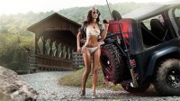 Hot babe with jeep wallpaper – bCarWallpapers