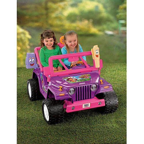 Fisher-Price Power Wheels Girls' Dora Jeep Wrangler 12-Volt …