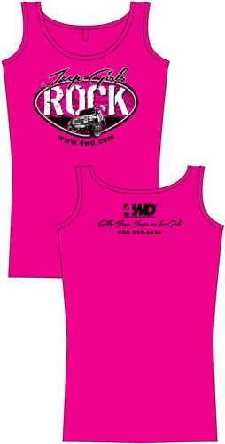 4Wheel Drive Hardware Part DYMGRLTL – Jeep Girls Rock Tank Top