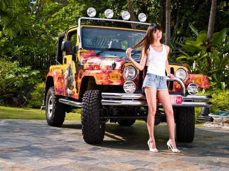 jeep girl – Models Female amp People Background Wallpapers on …