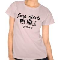 Jeep Girls ROCK Black on Light T-Shirt  Zazzle