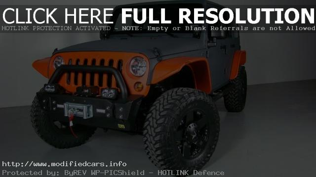 Orange Jeep Wrangler J8 Car Photos