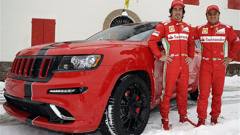 Custom Jeep Grand Cherokee SRT8s Given To Ferrari's F1 Superstars