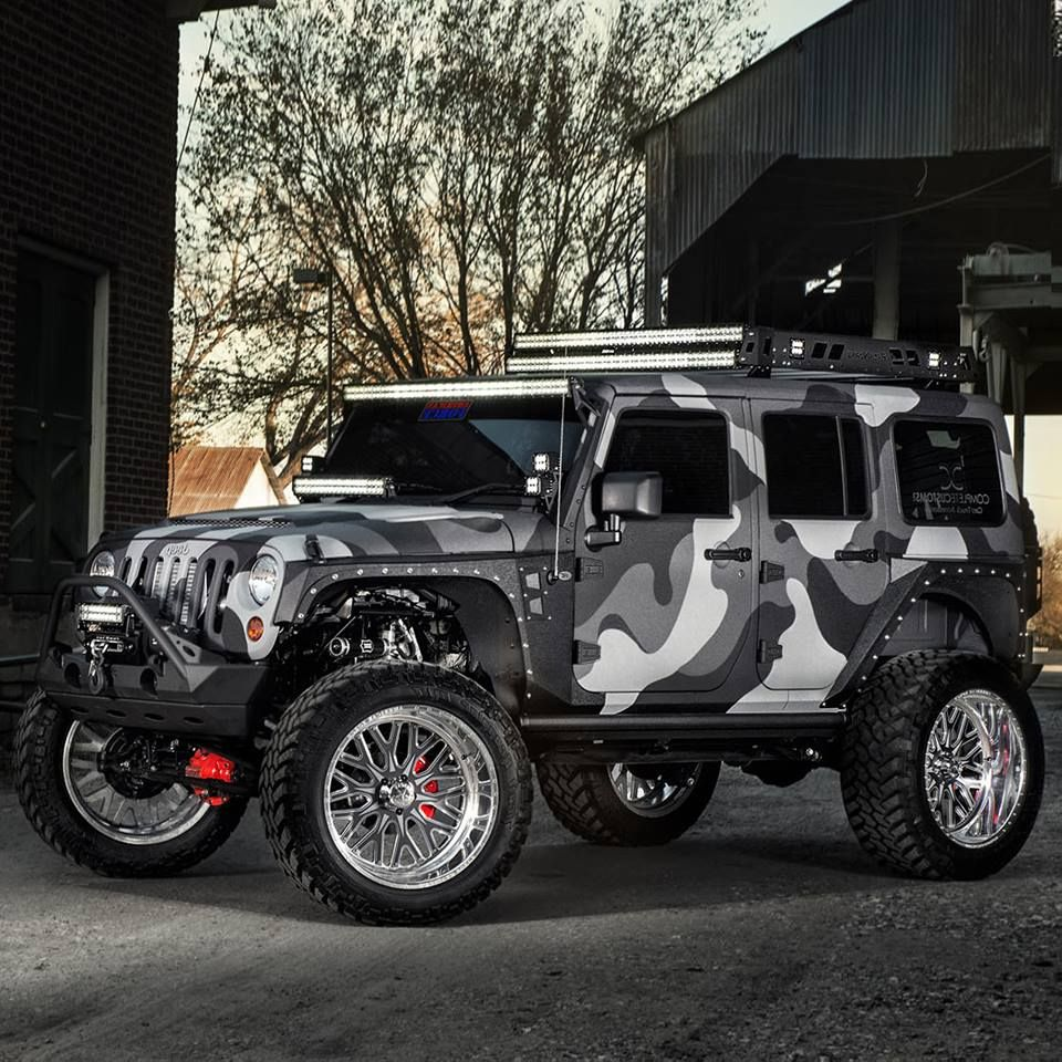 Custom Camouflaged Lifted Jeep . . Jeep Jeep Off Road Brands …