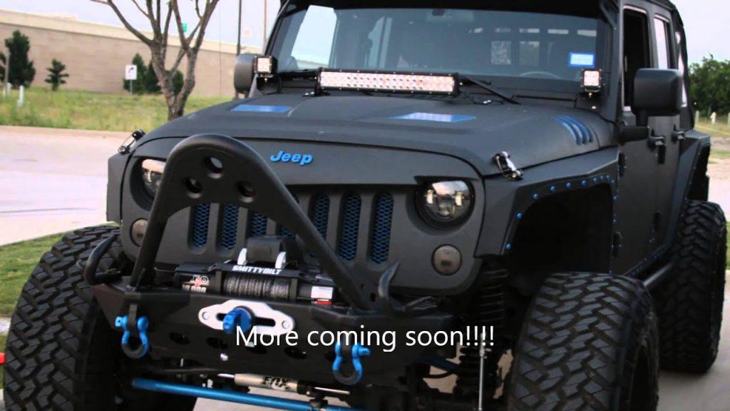 custom lifted jeep black on blue – YouTube