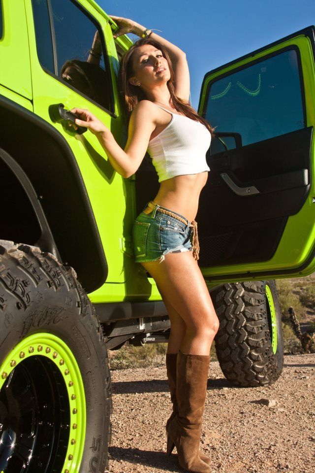 Jeep girl  Hot hot hot woman  Jeep Cars Jeep wrangler