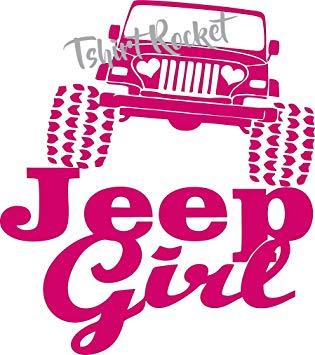 Amazon.com Jeep Decal -JEEP GIRL Heart Headlights Vinyl Car Decal …
