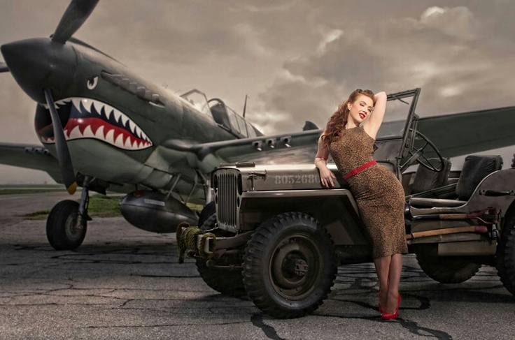 Awesome plane and jeep. Girl could not be in it Hot Aviators got …