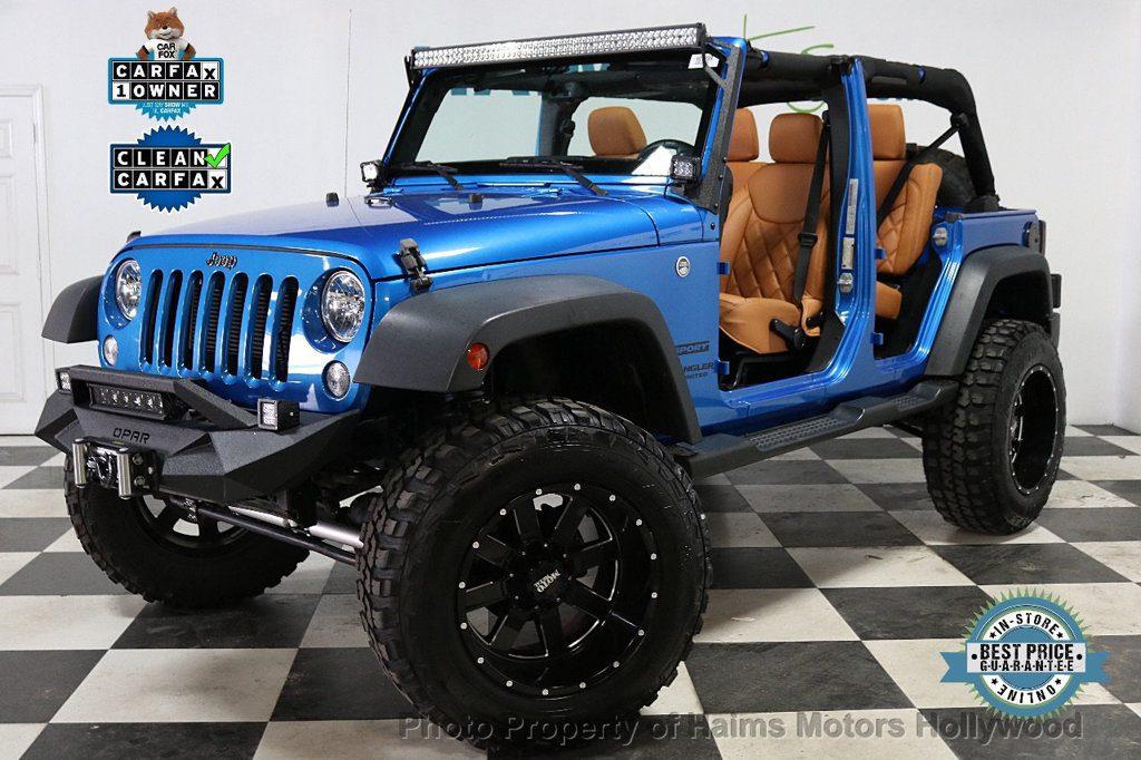 2016 Used Jeep Wrangler Unlimited CUSTOM JEEP at Haims Motors Ft …