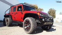 Crazy Custom Jeep Wrangler 6×6 Pickup Packs Hellcat V8 Power