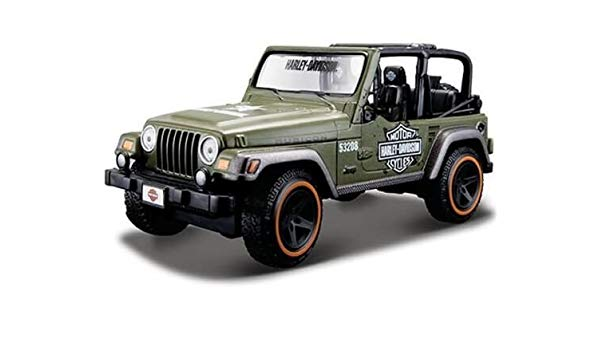 Amazon.com NEW 124 DISPLAY HARLEY-DAVIDSON – GREEN CUSTOM JEEP …