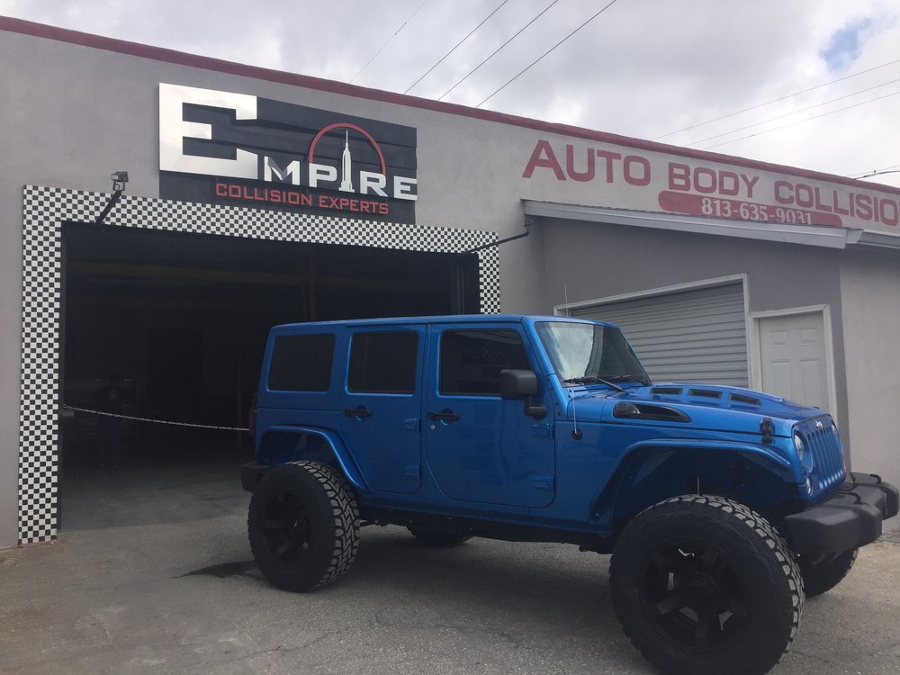 Blue Custom Jeep Wrangler  Empire Collision Experts