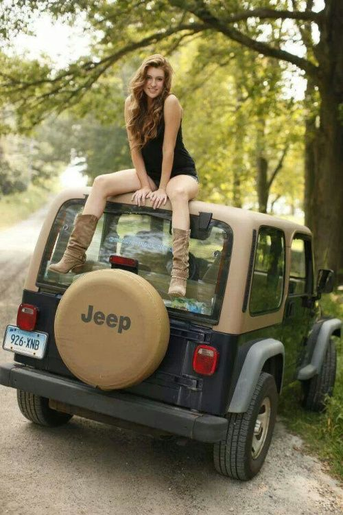 jeep-girls-500-30  Sexy Jeeps  Jeep Jeep truck Jeep cherokee
