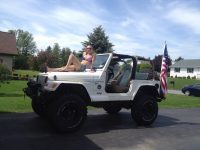 American girl American Jeep Jeep