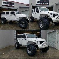 White Custom Jeep Wrangler 4  Empire Collision Experts