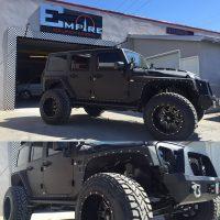 Black Custom Jeep Wrangler  Empire Collision Experts