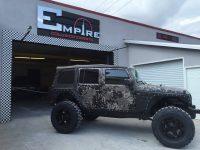 Camo Custom Jeep Wrangler  Empire Collision Experts
