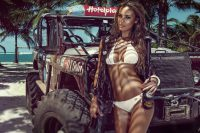 Hot Girl Miss Tuning Jeep Car Poster  My Hot Posters