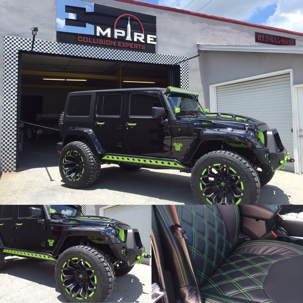 Black Custom Jeep Wrangler 5  Empire Collision Experts