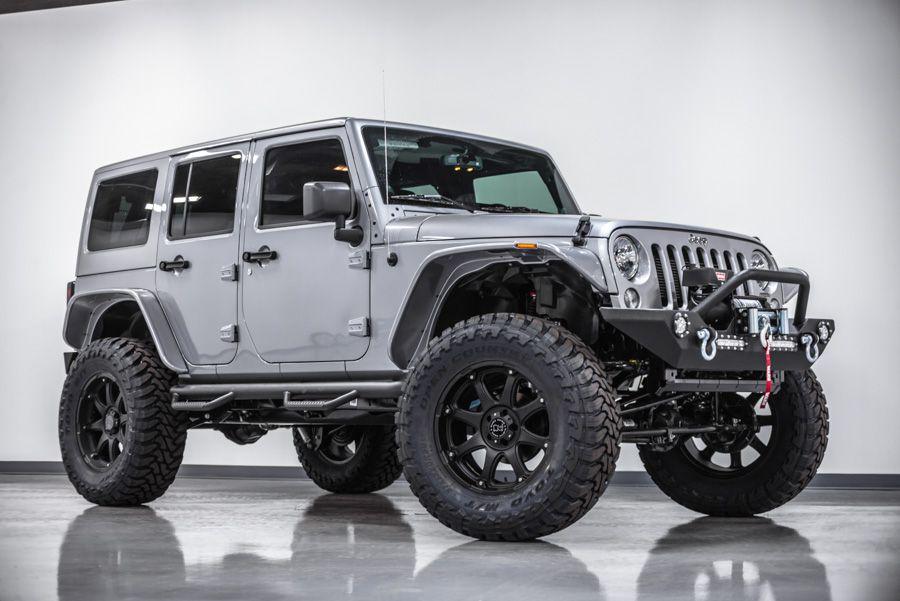 Silver Jeep Wrangler Unlimited Custom 86  Jeep wrangler …