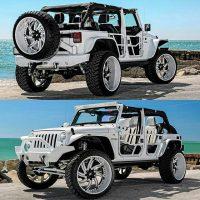 Luxury Custom Wheels Custom Jeep  Badass jeep Custom jeep White …