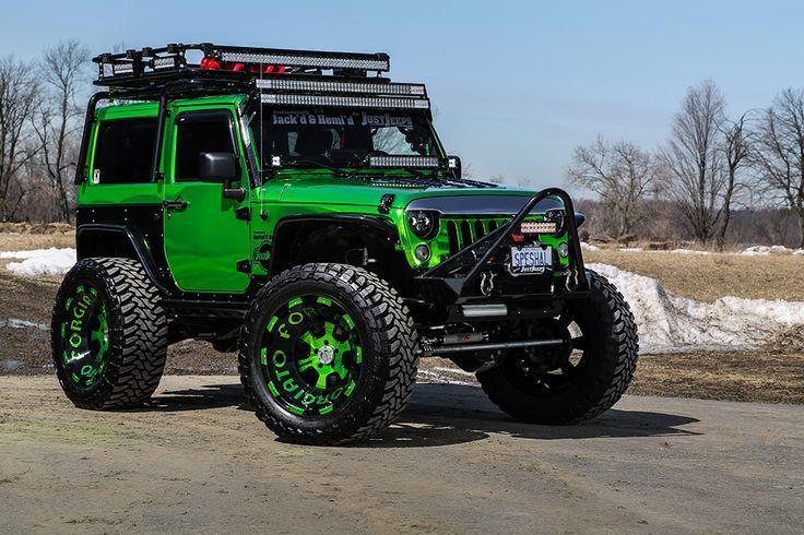 custom jeep wrangler in lime green  Green jeep wrangler Custom …
