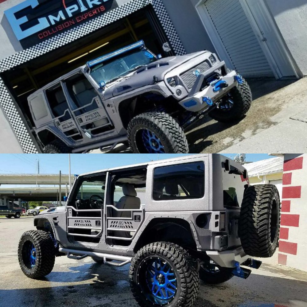 Silver Custom Jeep Wrangler  Empire Collision Experts