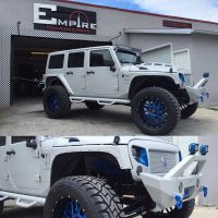 White Custom Jeep Wrangler 2  Empire Collision Experts