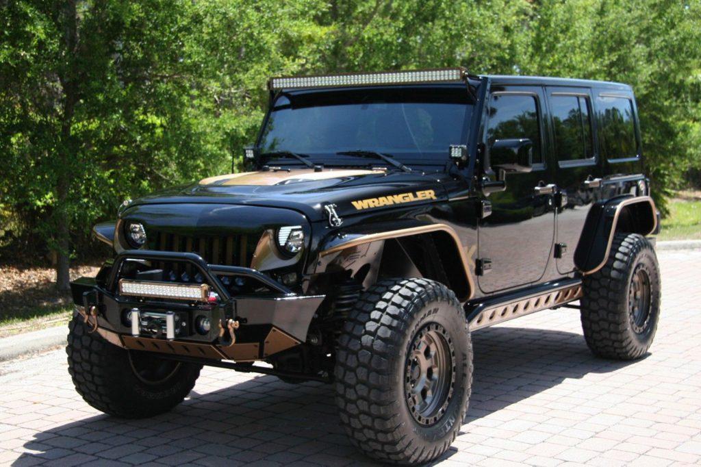 eBay 2016 Jeep Wrangler UNLIMITED SAHARA LIFTED CUSTOM 35 TIRES …