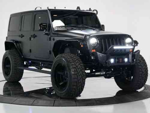 Custom Jeep Wrangler Unlimited Matte Black 2012 Custom Jeep …