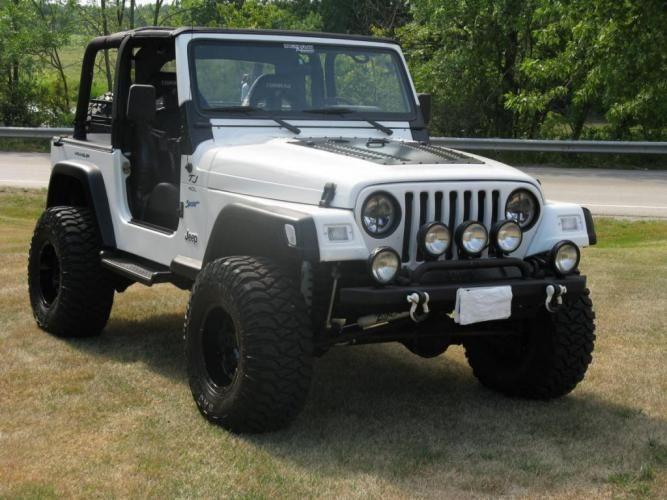 Custom White Jeep TJ  Jeep wrangler tj Jeep tj Jeep wrangler