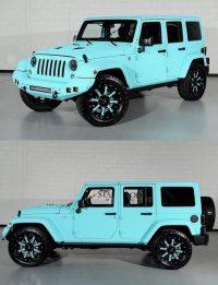 Custom paint job on a four door hard top Jeep Wrangler– the …